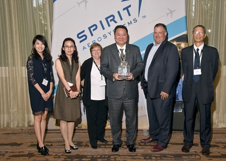 Awarded by Spirit AeroSystems for the 2016 Superior Quality & Delivery