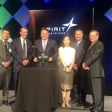 榮獲Spirit AeroSystems 2018年度表現夥伴獎