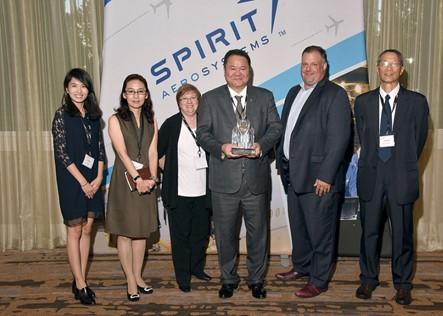 榮獲Spirit AeroSystems 2016年供應商傑出表現獎
