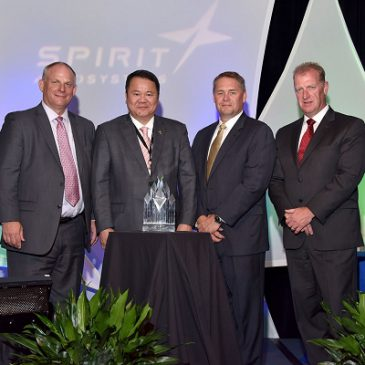 榮獲Spirit AeroSystems 2015最佳年度國際供應商獎